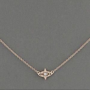 Kendra Scott gold evil eye necklace